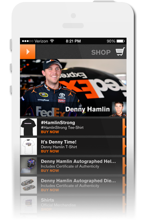 Denny Hamlin Racing Official Mobile App for iPhone & Android