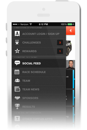 Furniture Row Racing Official Mobile App for iPhone & Android