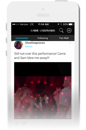 Carrie Underwood Official Mobile App for iPhone & Android