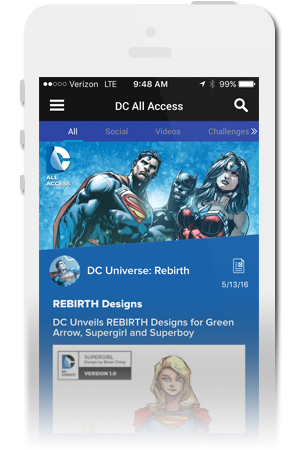 DC All Access Official Mobile App for iPhone & Android