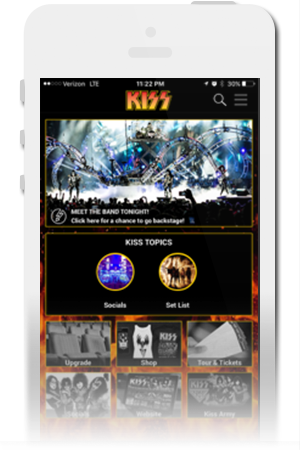 KISS Official Mobile App for iPhone & Android