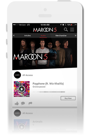 Maroon 5 Official Mobile App for iPhone & Android
