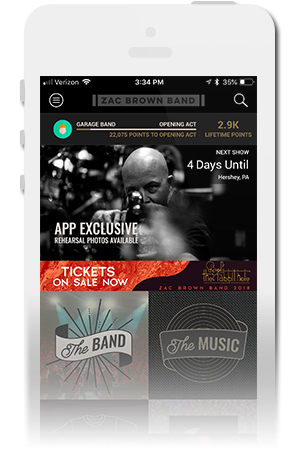 Zac Brown Band Official Mobile App for iPhone & Android