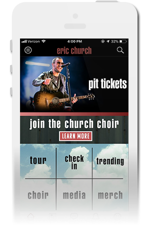 Eric Church Official Mobile App for iPhone & Android