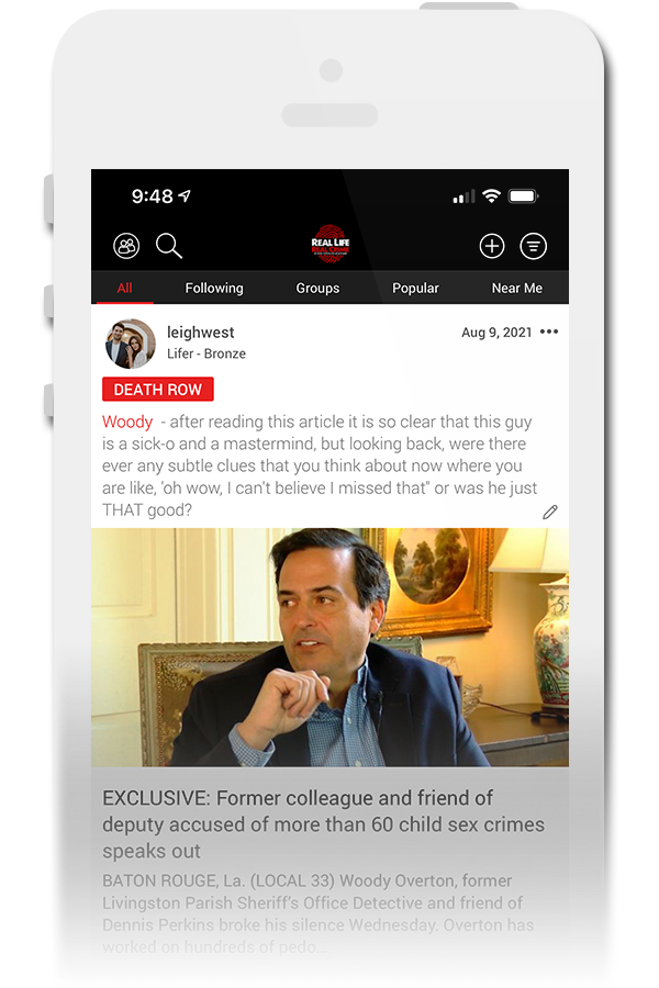 Real Life Real Crime Official Mobile App for iPhone & Android